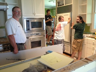 Kitchen Renovation In Progress kitchen before and after | farlow group